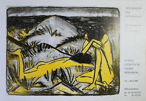 Otto Mueller-Otto Mueller contemporanei (1987). esposizione manifesto/offset.