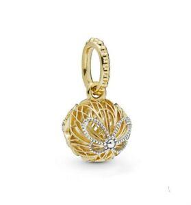 Silver-Charm-butterflies-dance-around-a-glowing-golden-orb-Fit-Original-Bracelet