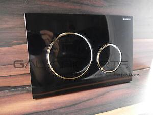 Das Bild Wird Geladen  Geberit Sigma 20 Schwarz Gold Drueckerplatte Betaetigungsplatte Badezimmer