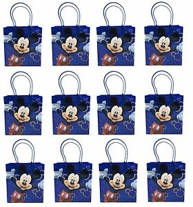 Image Is Loading 12PCS Disney Mickey Mouse Dark Blue Goodie Bags