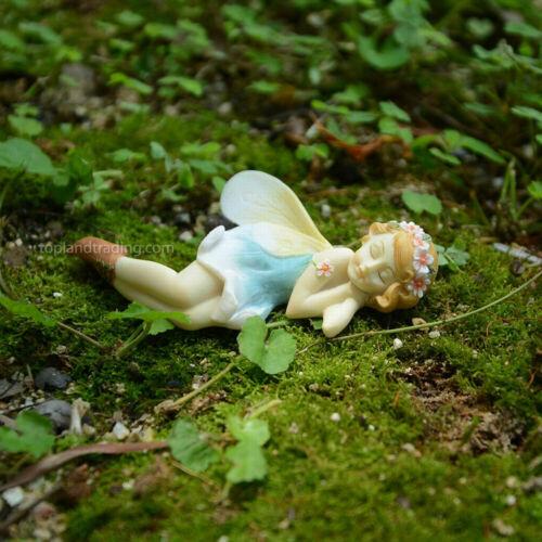Miniature FAIRY GARDEN Sleeping Flower Fairy Bluebonnet fairy Blue fairy gardens