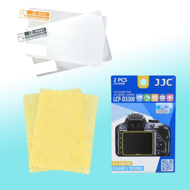 Nikon D3300 D3200 LCD Screen Guard Protector Scratch Resistance JJC LCP-D3300