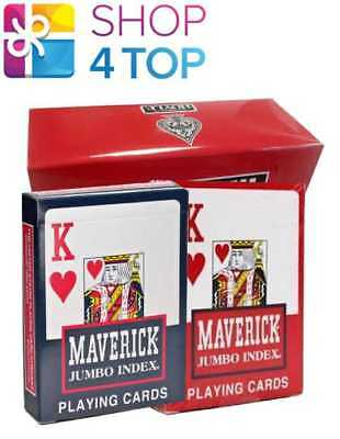 Maverick Standard Index Playing Cards 1 Red Deck and 1 Blue Deck