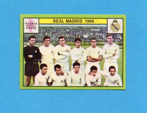 REAL MADRID 1966-STORIA COPPE-Recuperata PANINI CALCIATORI 1968//69-Figurina