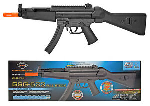 OFFICIAL GSG 522 AEG Electric Airsoft Gun Semi / Full 300fps Rifle w/ 500 BB's!
