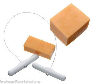 New-Kitchen-Craft-Draw-Through-Cheese-Wire-Cutter-amp-Handles