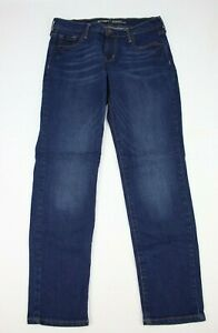 Old-Navy-Womens-Jeans-Original-Straight-Size-4-Short-Dark-Blue-Denim-28-Inseam