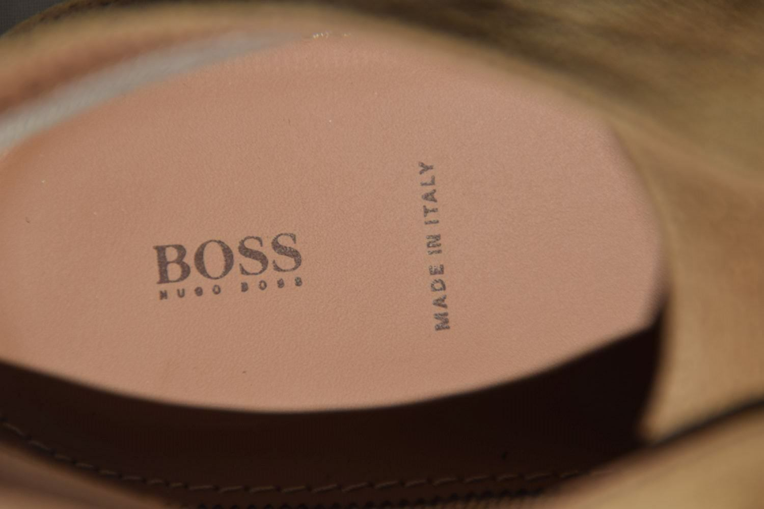 HUGO BOSS Stiefel, Gr. 42 / UK 8 / US 9, 9, US   Made in , Medium Braun a4c256
