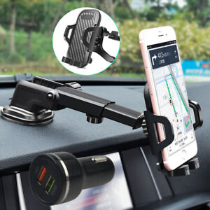 Car-Air-Vent-Mount-amp-Dashboard-Holder-Car-Charger-For-iPhone-X-XR-XS-Max-7-8-Plus
