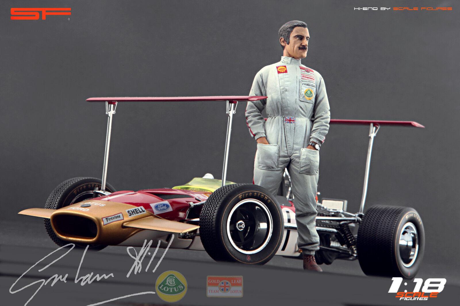 1/18 figura de Graham Hill Muy Raro Para  Autoart Exoto CMC Lotus