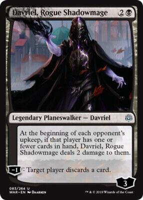 4x Davriel Rogue Shadowmage MTG War Of The Spark NM Magic Regular