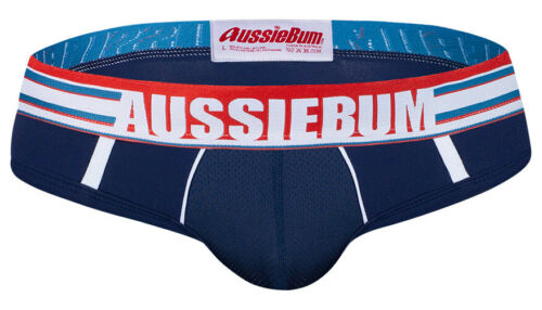 NUOVO gridfit AUSSIEBUM Navy//Royal Blu Slip Da Uomo /& boxer trunks//biancheria intima