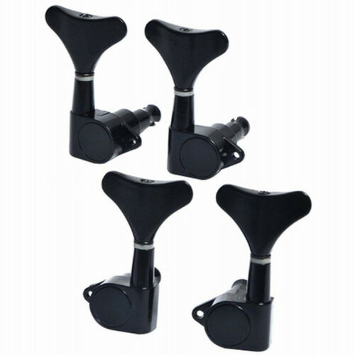 Bass Tuning Pegs Tuners Machine Heads for 5 String Guitar Sealed 2L2R Black Keys