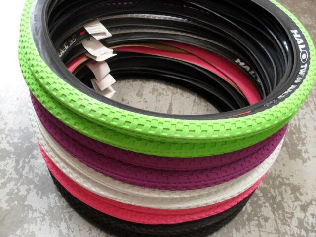 "Halo TWIN RAIL Tyres (PAIR) NEW! (5 Colours) TWINRAIL Mountain Bike 26"" x 2.2"