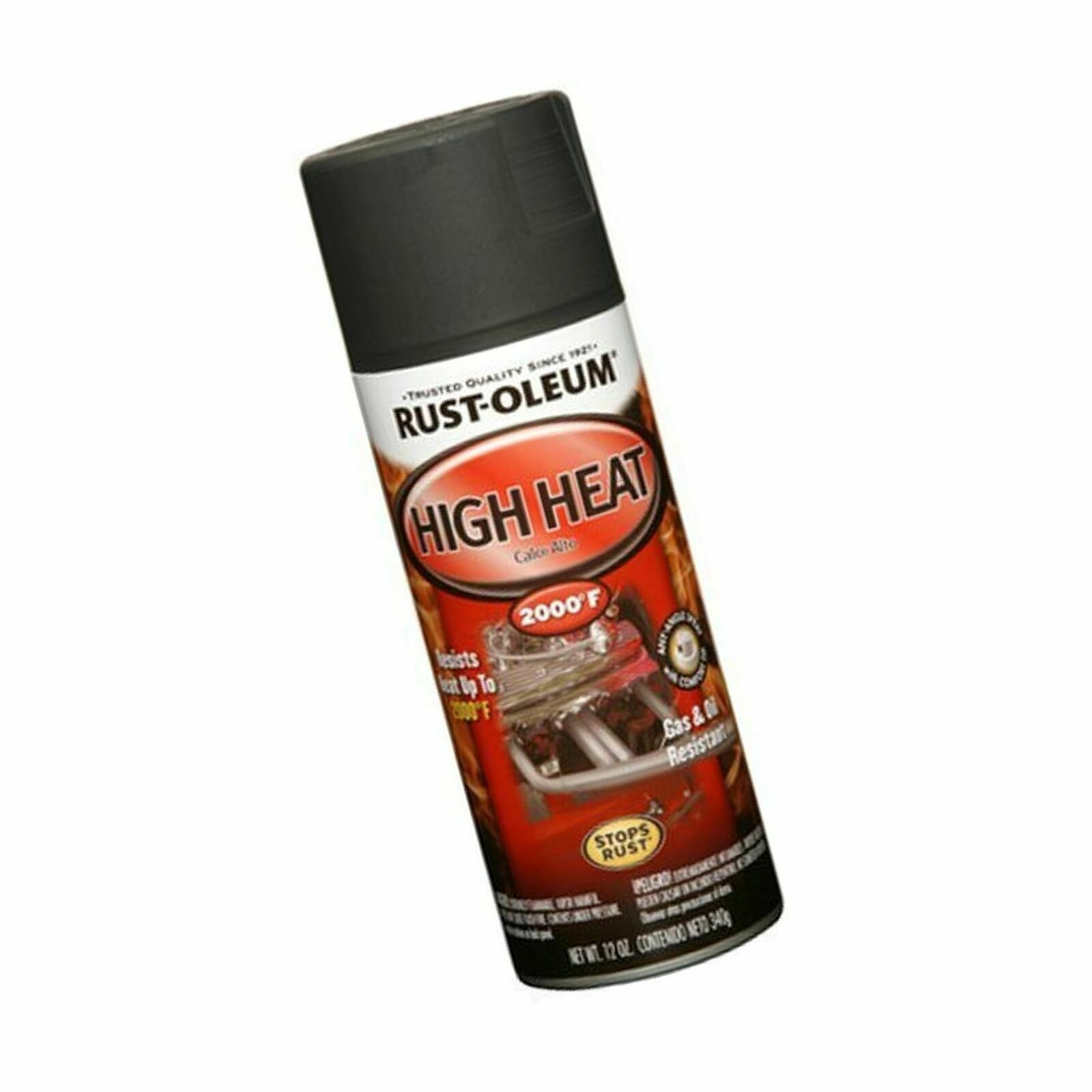 Rust-Oleum 248903 Automotive 12-Ounce High Heat 2000 Degree Spray - Flat  Black