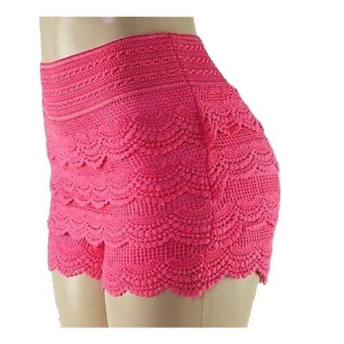 Lace Shorts New Fashion Womens Lady Crochet Tiered Lace Shorts Skorts Short