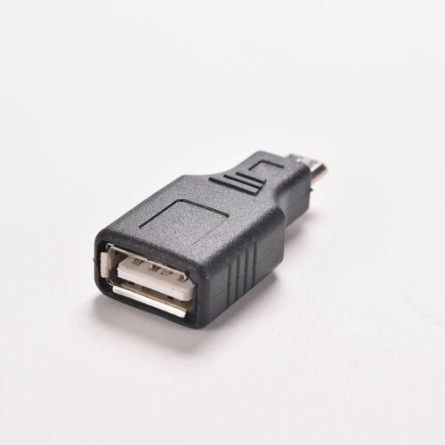 1X F//M USB 2.0 A Female To Micro USB B 5 Pin Male Plug OTG Adapter Converter TJB