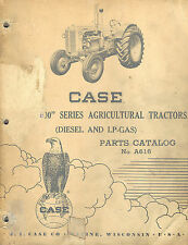 Case Vintage 600 Series Tractors Parts Manual 1957 A616
