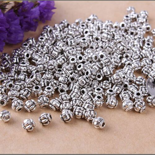 100pcs Tibetan Silver Charms Spacer Beads Findings Making Jewelry DIY