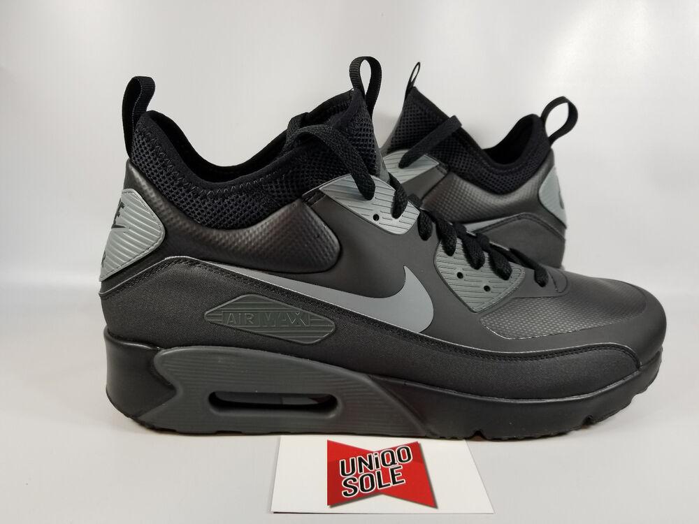 huge discount 7e050 26d6b Nike Air Max 90 Mid Winter Noir COOL GREY pour 924458-002 Homme Chaussures  de