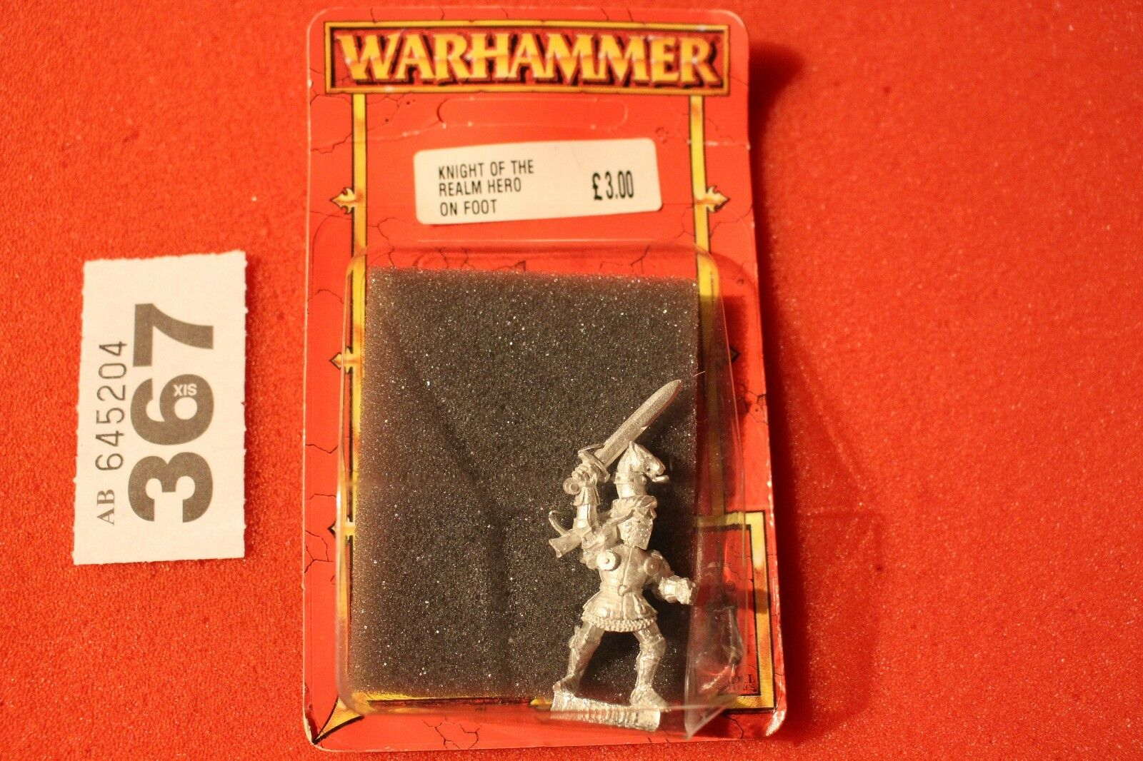 Warhammer Bretonnian Knight of the Realm Hero Foot Metal Citadel Games Workshop