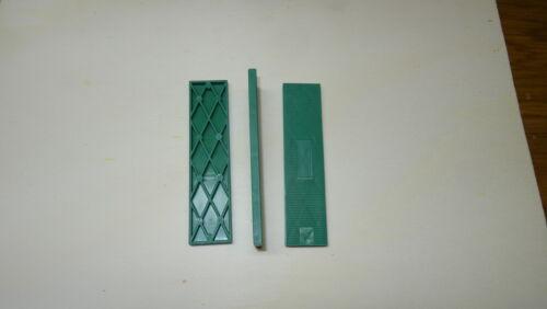 Set 400 Stück Kunststoffklötze Verglasungsklötze Unterleger 100x24x1-6 mm