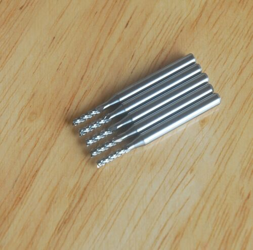 5PCS 2.0mm Carbide End Mill Engraving Bits for CNC//PCB Machinery Rotary Burr
