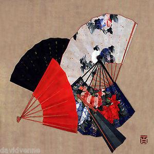 Oriental-Fans-12-x-12-inch-mono-deluxe-Needlepoint-Canvas-Venne