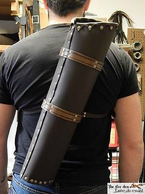 The ultimate medieval leather quiver! High quality! Larp, SCA, cosplay