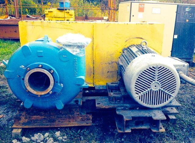 Metso Horizontal Arrangement Model HM200 EHC-D C5 Slurry Pump with 125hp  motor