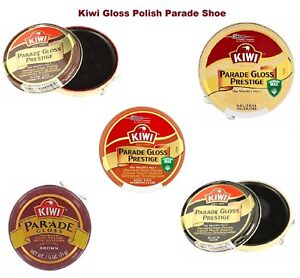 Kiwi-Gloss-Polish-Parade-Shoe-Prestige-Black-Brown-Neutral-Dark-Tan-Can-50ml