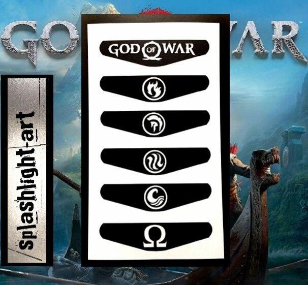 PS4 Controller Light bar 6x GOD OF WAR Vinyl Decal Sticker Playstation 4 Skin