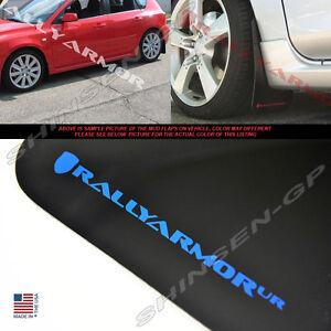 Rally Armor 04-09 Mazdaspeed 3 /& Mazda 3 UR Black Mud Flaps Kit w// WHITE Logo