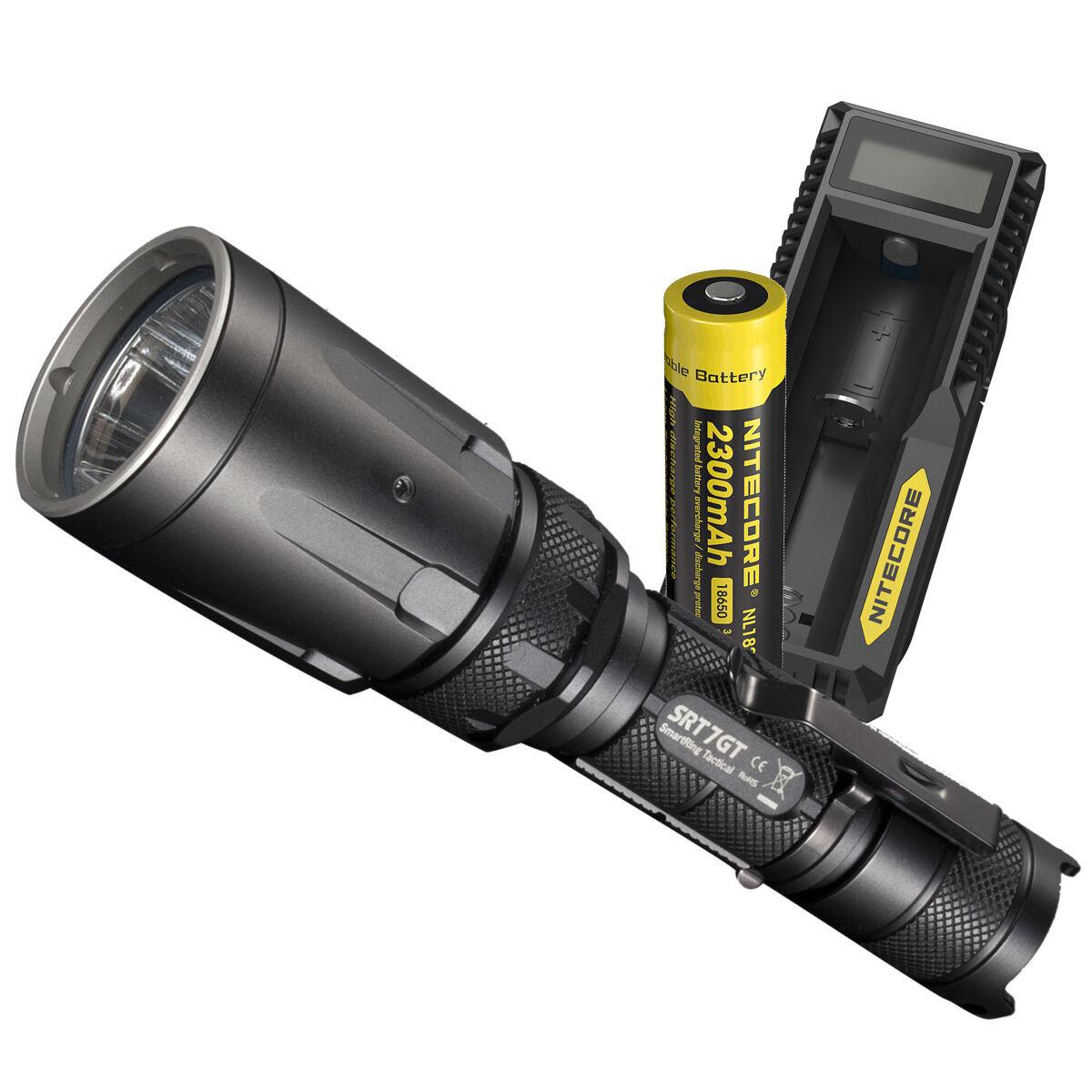 Nitecore SRT7GT 1000 Lumen MultiColoreeee LED Tactical Flashlight w Charging Charging Charging Kit f9096e