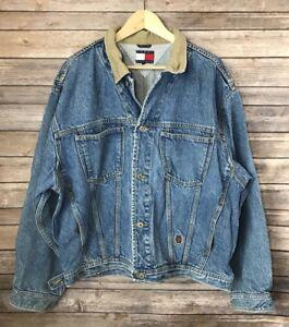 Vintage 90s Tommy Hilfiger Mens XL Denim Jean Big Flag Acid Wash ... 5ac52abafb