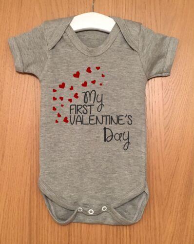 MY FIRST VALENTINE/'S DAY BABY BODY VEST BABY GRO GIFT IDEA GIRL BOY