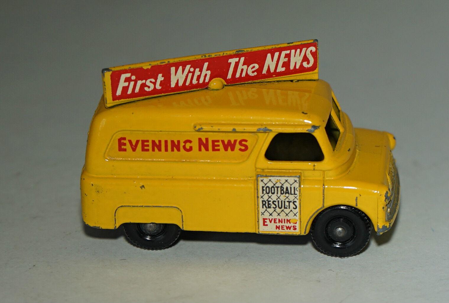 Matchbox Lesney Numéro 42 Jaune Bedford Soir News Van - BPW (45) - Excellent