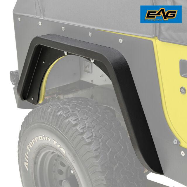 EAG Rear Fender Flares Corner Guards Armor Fits 87-96 Jeep YJ Wrangler