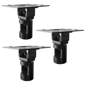 3 Pcs Tv Monitor Cathedral Ceiling Mount Plate Bracket For 1 5 Npt Pipe 200 Lbs Ebay
