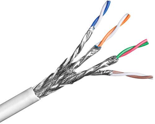 305m 0,62€/m CAT6 Verlegekabel S-FTP PIMPF 2* geschirmt halogenfrei grau DSL LAN