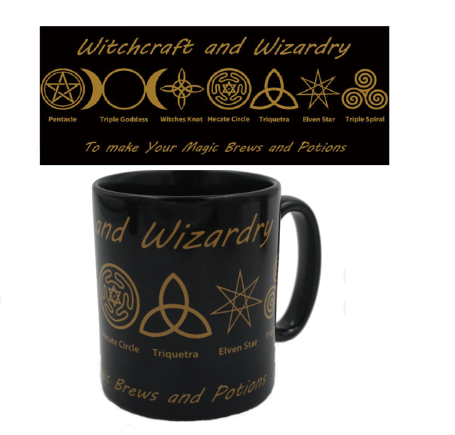 STUNNING Witches Brew Symbolic Mug - Black Witchcraft and Wizardry Wicca  Pagan