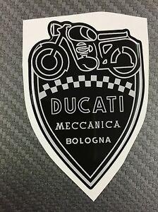 1 Stickers Scudetto DUCATI Meccanica Vintage Gold & Black 3D resinato 100 mm Collezioni diverse