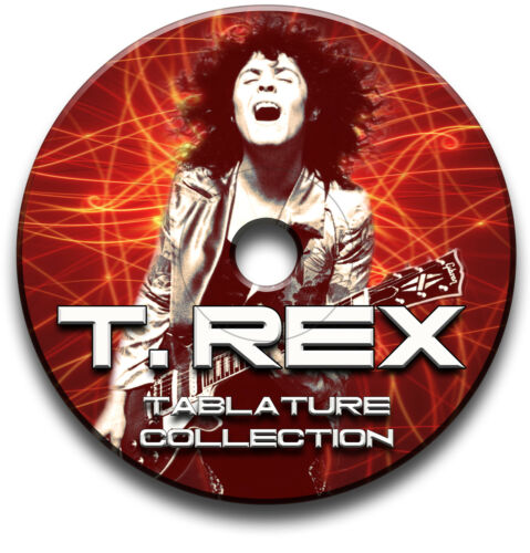 T REX POP ROCK GUITAR TABS TABLATURE SONG BOOK SOFTWARE CD