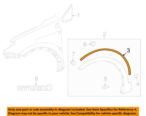 TOYOTA OEM RAV4 Fender-Wheel Fender Flare Molding Pad Gasket Seal 538530R010