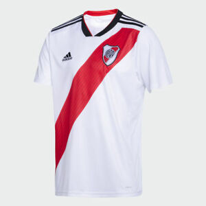 4fa8e38ee Image is loading River-Plate-2019-Home-Soccer-Jersey-Shirt-Climacool-