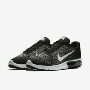 7572e74339c7 Nike Air Max Sequent 2 Men s Running Shoes Sz 9-12 Black White Grey ...
