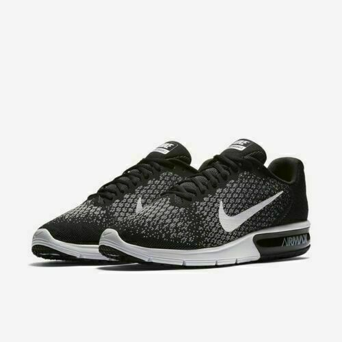 buy popular 21ac5 52413 Nike Air Max Sequent 2 Men's Running Shoes Sz 10/12 Black/White/Grey 852461  005