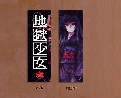 """New Hell Girl Jigoku shoujo Enma Ai 6"""" x 2 """" laminated Bookmark"""