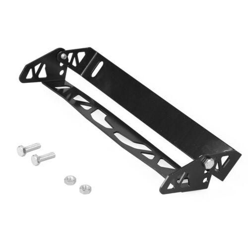 Aluminum Adjustable Rotating Number JDM Car License Plate Frame Holder BLACK