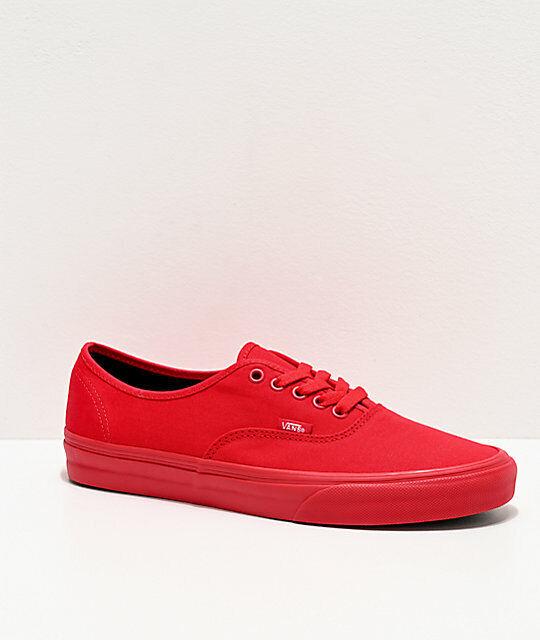 Red Genuine Vans Unisex Shoes Uk Size 8 For Sale Online Ebay